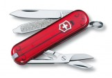 VICTORINOX瑞士刀-Classic SD 58mm-透明紅